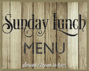sunday lunch menu